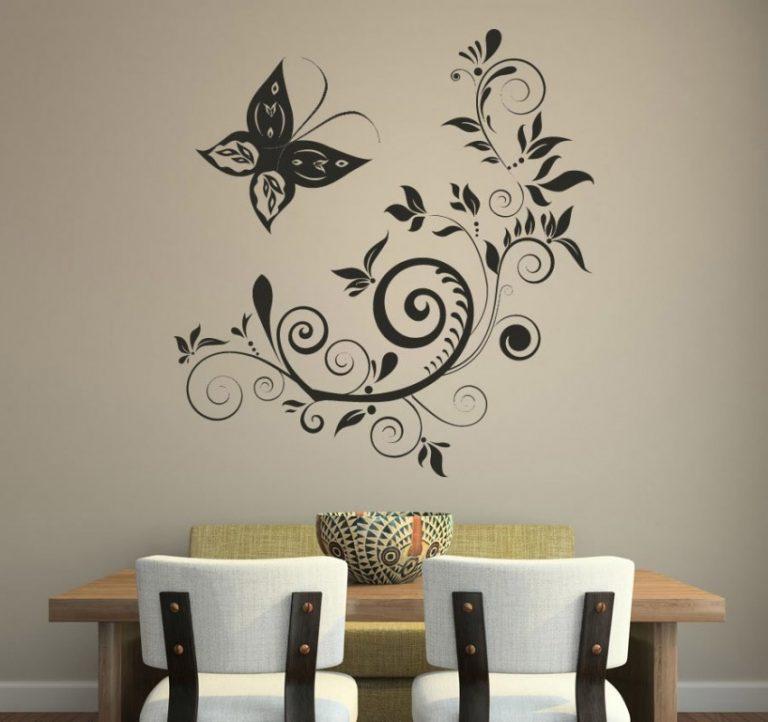 декоративные рисунки на стенах фото диски реплика это