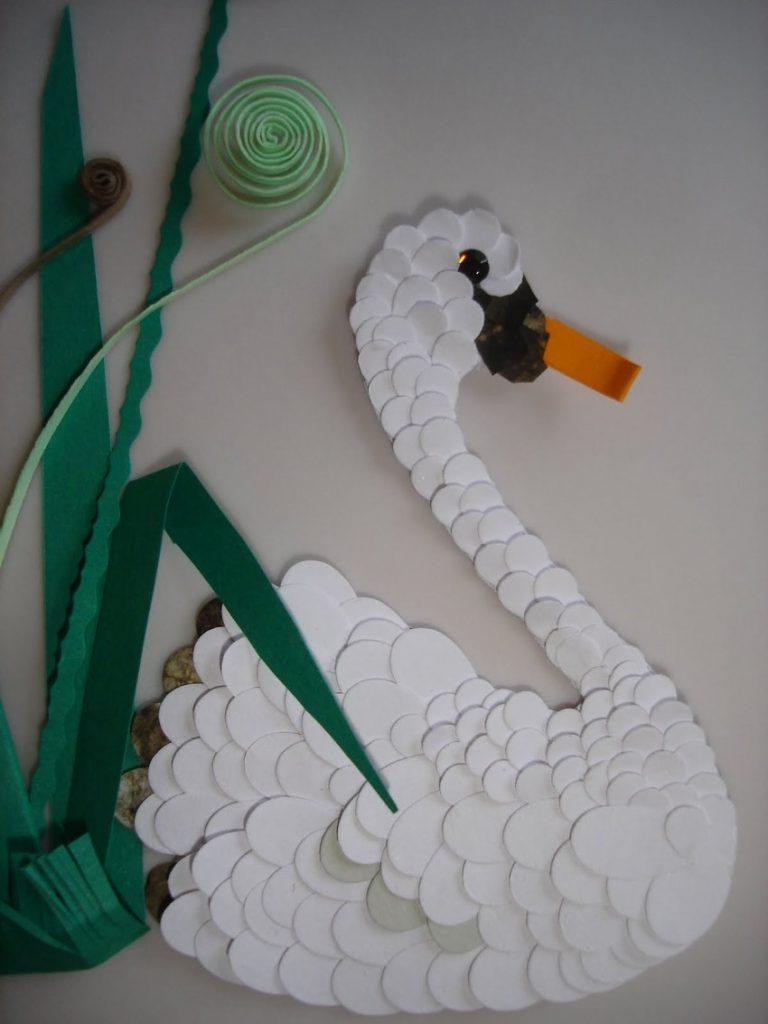 как сделать открытку лебедь его инициативе красноярском