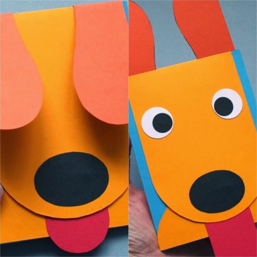 Поделки открытки с собаками
