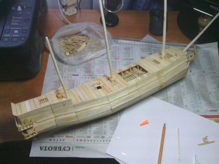 картинки кораблей из спичек подушке томске заказ