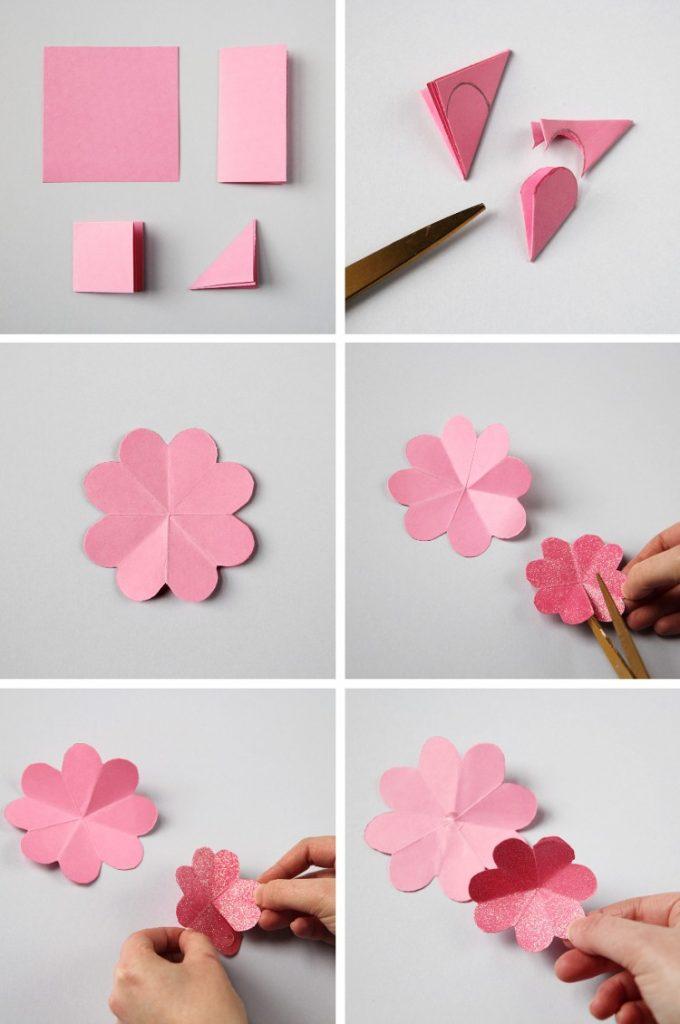 Простые цветы на открытку своими