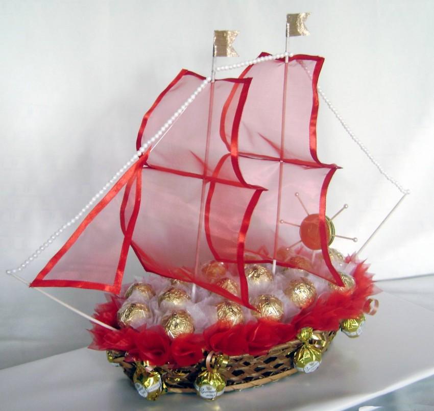 важно, чтобы корабль из конфет своими руками пошаговое фото нам