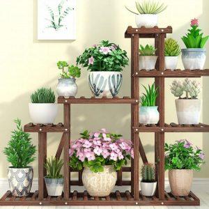 Как сделать напольные подставки для цветов: декорируем интерьер дома
